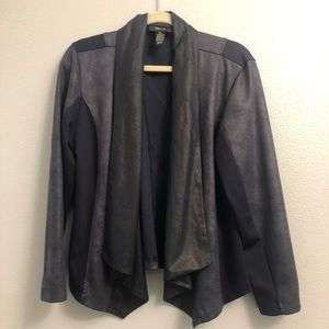 Style & Co | navy blue blazer metallic reflect